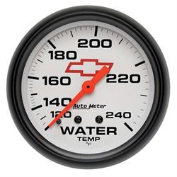 Auto Meter 5832-00406 GM White Mechanical Water Temperature Gauge