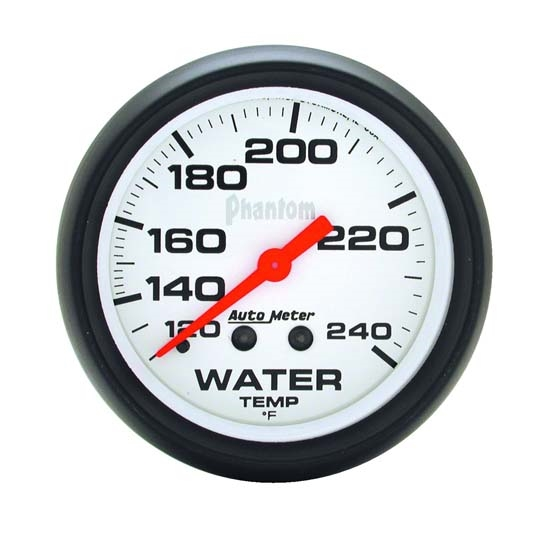 Auto Meter 5832 Phantom Mechanical Water Temperature Gauge, 2-5/8 Inch