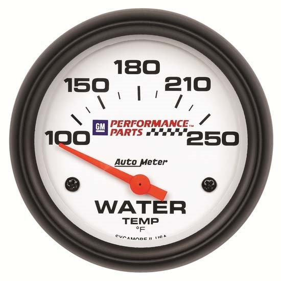 Auto Meter 5837-00407 GM White Air-Core Water Temperature Gauge