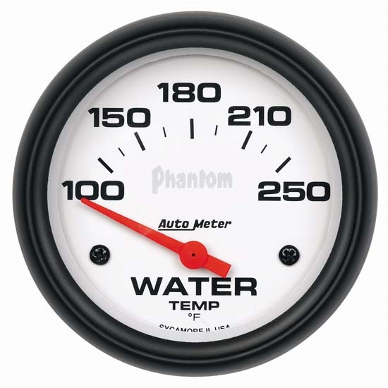 Auto Meter 5837 Phantom Air-Core Water Temperature Gauge, 2-5/8 Inch