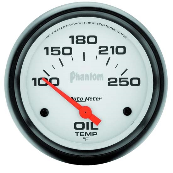Auto Meter 5847 Phantom Air-Core Electric Oil Temp Gauge, 2-5/8 Inch