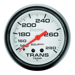 Auto Meter 5851 Phantom Mechanical Transmission Temp Gauge, 2-5/8 Inch