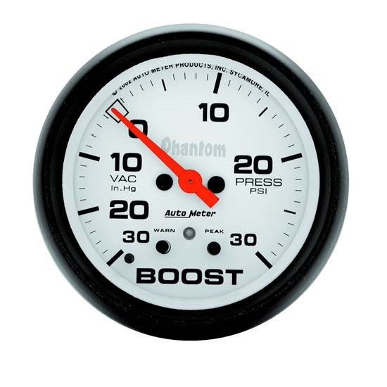 Auto Meter 5877 Phantom Digital Stepper Motor Boost/Vacuum Gauge