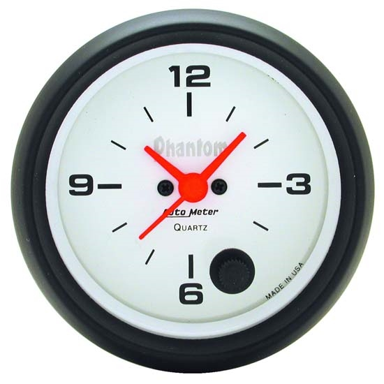 Auto Meter 5885 Phantom Quartz Clock Gauge, 2-5/8 Inch