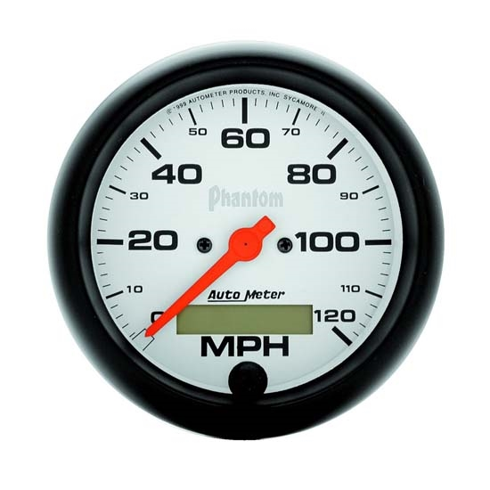 Auto Meter 5887 Phantom Air-Core Speedometer, 120 MPH, 3-3/8 Inch