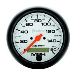 Auto Meter 5888 Phantom Air-Core Speedometer, 160 MPH, 3-3/8 Inch