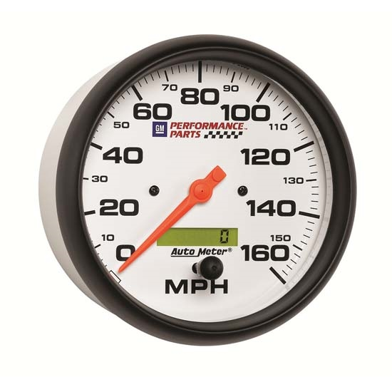Auto Meter 5889-00407 GM White Air-Core Speedometer Gauge, 5 Inch