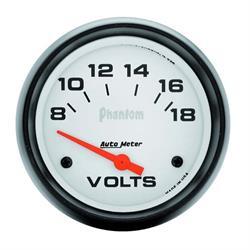 Auto Meter 5891 Phantom Air-Core Electric Voltmeter Gauge, 2-5/8 Inch
