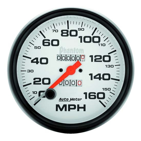 AutoMeter 5895 Phantom Mechanical Speedometer, 160 MPH, 5 Inch