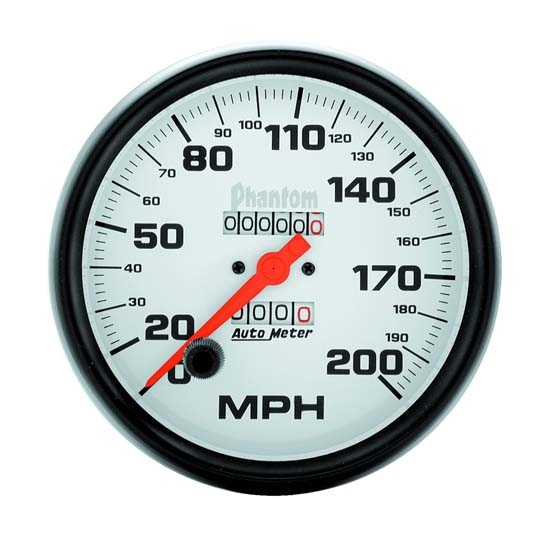 Auto Meter 5896 Phantom Mechanical Speedometer, 200 MPH, 5 Inch