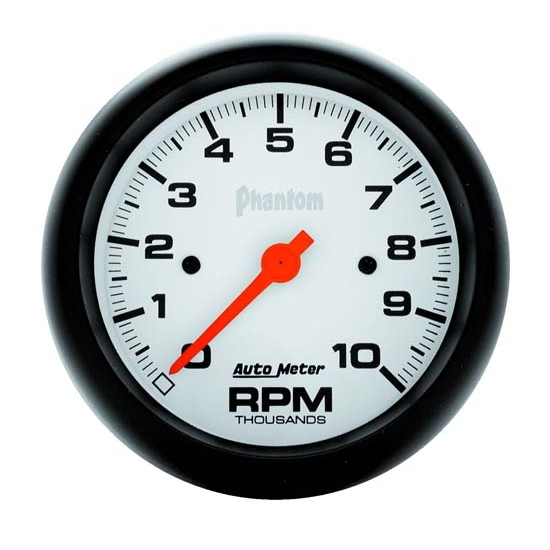 AutoMeter 5897 Phantom Air-Core In-Dash Tachometer, 10K RPM,3-3/8