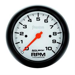 Auto Meter 5897 Phantom Air-Core In-Dash Tachometer, 10K RPM, 3-3/8