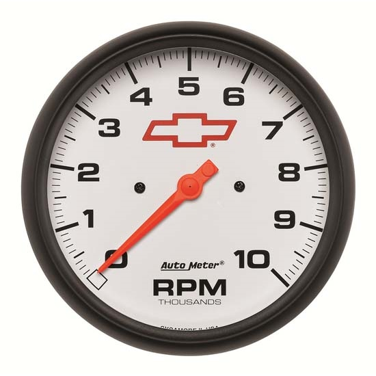 Auto Meter 5898-00406 GM White Air-Core In-Dash Tachometer Gauge