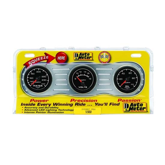 Auto Meter 5900 ES Interact Pack Mechanical Gauge Set, 2-1/16 Inch