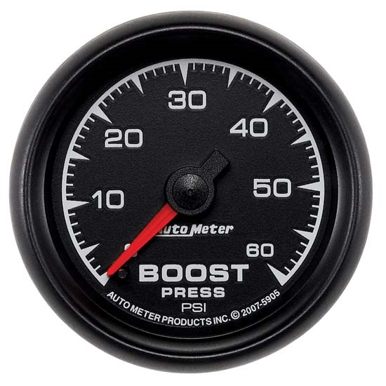 Auto Meter 5905 ES Mechanical Boost Gauge, 2-1/16 Inch, 60 PSI