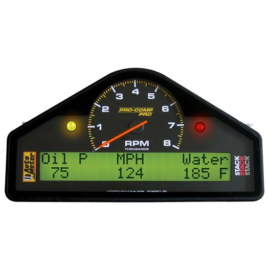 AutoMeter 6001 Pro-Comp Analog/Digital LCD Dash Gauge Display