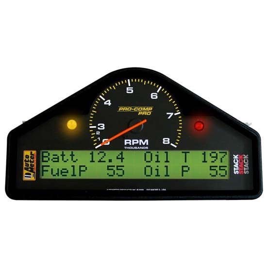 Auto Meter 6012 Pro-Comp Analog/Digital LCD Dash Gauge Display