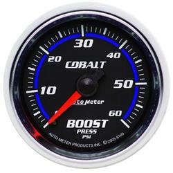 Auto Meter 6105 Cobalt Mechanical Boost Gauge, 2-1/16 Inch, 60 PSI