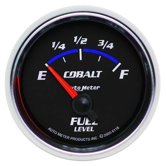 Auto Meter 6116 Cobalt Air-Core Fuel Level Gauge, 2-1/16 Inch