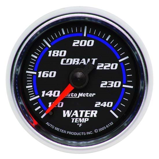 Auto Meter 6132 Cobalt Mechanical Water Temperature Gauge, 2-1/16 Inch