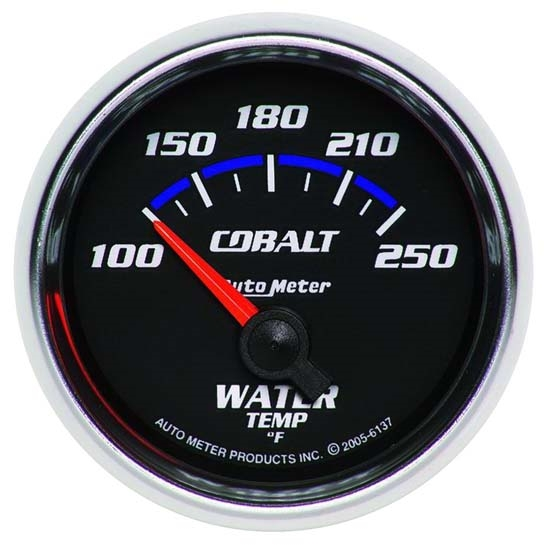 Auto Meter 6137 Cobalt Air-Core Water Temperature Gauge, 2-1/16 Inch