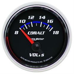 Auto Meter 6192 Cobalt Air-Core Voltmeter Gauge, 2-1/16 Inch