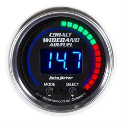 Auto Meter 6197 Cobalt Air/Fuel Ratio Gauge, 2-1/16, 6:1-20:1 AFR, Flat