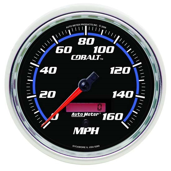 Auto Meter 6289 Cobalt Air-Core Electric Speedometer Gauge, 5 Inch