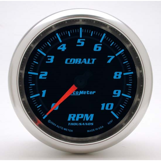 Auto Meter 6297 Cobalt Air-Core In-Dash Tachometer Gauge, 3-3/8 Inch