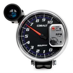 Auto Meter 6299 Cobalt Air-Core Pedestal Tachometer Gauge, 5 Inch