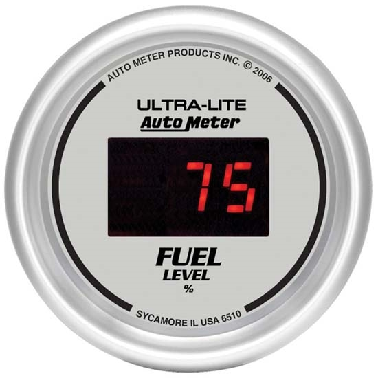Auto Meter 6510 Ultra-Lite Digital Digital Fuel Level Gauge