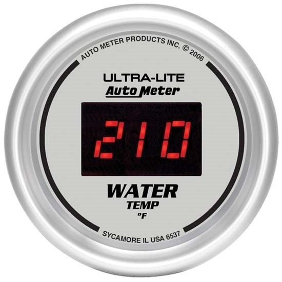 """Electrical Auto Meter 4437 Ultra-Lite Analog Gauges 100-250 Degrees F 2 5//8/"""""""