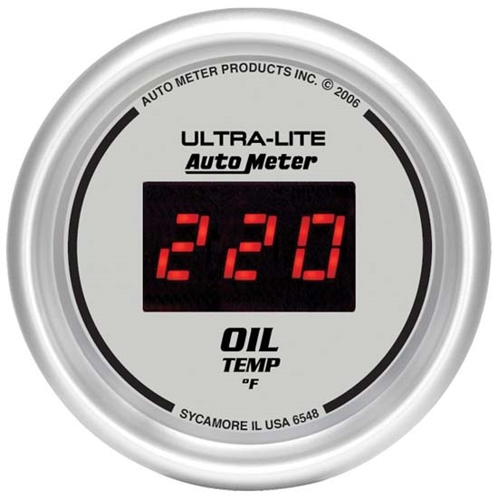 Auto Meter 6548 Ultra-Lite Digital Digital Oil Temperature Gauge