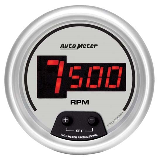 Auto Meter 6597 Ultra-Lite Digital Digital In-Dash Tach, 10kRPM, 3-3/8