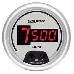 Auto Meter 233907 Auto Gage Silver 5 10000 RPM Pedestal Mount Tachometer Memory