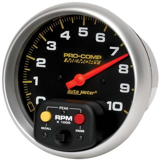 auto meter 6801 pro comp air core pedestal tachometer, 10k rpm, 5 inch  auto meter fuel pressure gauge wiring diagram free download #39