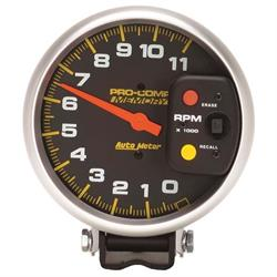 AutoMeter 6811 Pro-Comp Air-Core Pedestal Tachometer, 11k RPM, 5