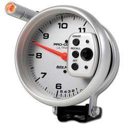 Auto Meter 6855 Ultra-Lite Air-Core Pedestal Tachometer, 11k, 5 Inch