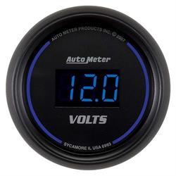 Auto Meter 6993 Cobalt Digital Voltmeter Gauge, 2-1/16 Inch, 18V