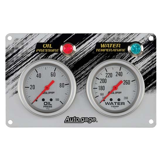 AutoMeter 7065 Auto Gage Mechanical 2 Gauge Race Panel