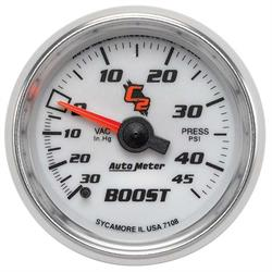 Auto Meter 7108 C2 Mechanical Boost/Vacuum Gauge, 2-1/16 Inch