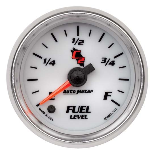Auto Meter 7114 C2 Digital Stepper Motor Fuel Level Gauge, 2-1/16 Inch