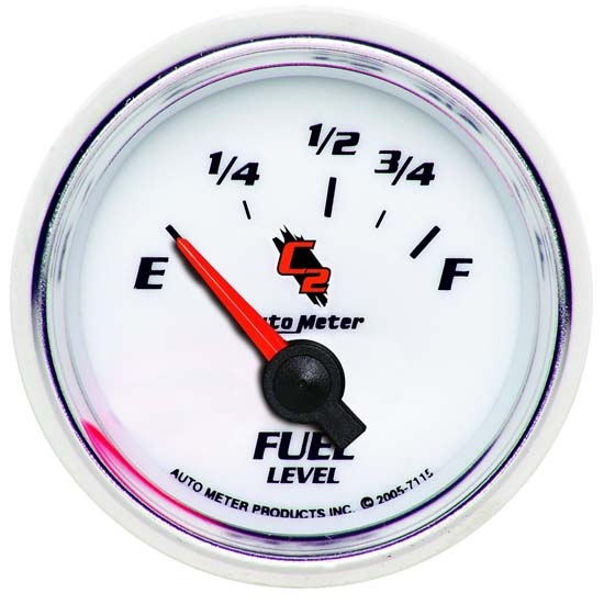 Auto Meter 7115 C2 Air-Core Fuel Level Gauge, 2-1/16 Inch