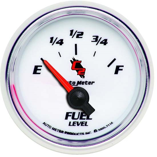 Auto Meter 7116 C2 Air-Core Fuel Level Gauge, 2-1/16 Inch