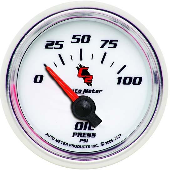 Auto Meter 3827 GS 2-1//16 0-100 PSI Oil Pressure Gauge