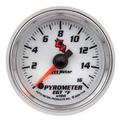 Auto Meter 7144 C2 Digital Stepper Motor Pyrometer Gauge, 2-1/16 Inch