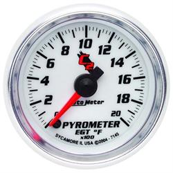 Auto Meter 7145 C2 Digital Stepper Motor Pyrometer Gauge, 2-1/16 Inch