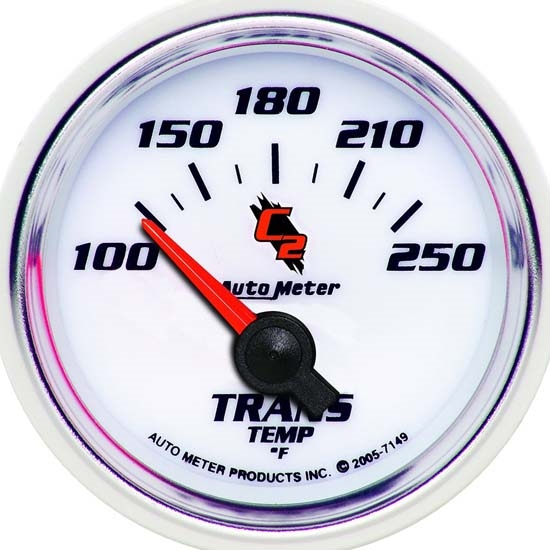 Auto Meter 7149 C2 Air-Core Transmission Temperature Gauge, 2-1/16 In.