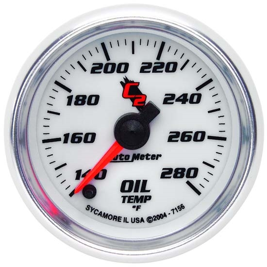 Auto Meter 7156 C2 Digital Stepper Motor Oil Temperature Gauge, 2 Inch