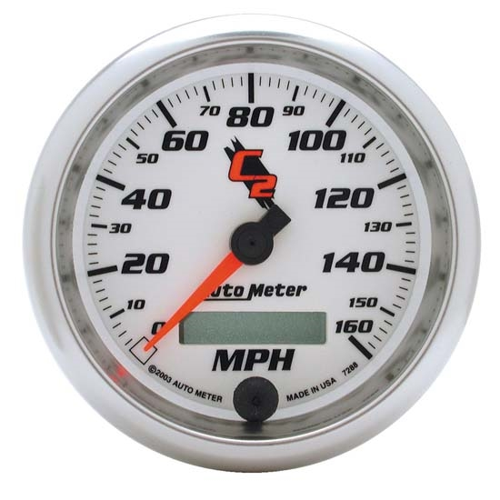 Auto Meter 7288 C2 Air-Core Electric Speedometer Gauge, 3-3/8 Inch